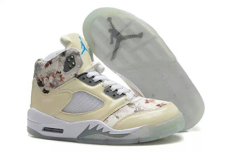 Air Jordan 5 GS Beige Cherry Blossom For Sale Girls