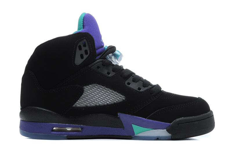 Air Jordan 5 Retro Black New Emerald Grape Ice Cheap