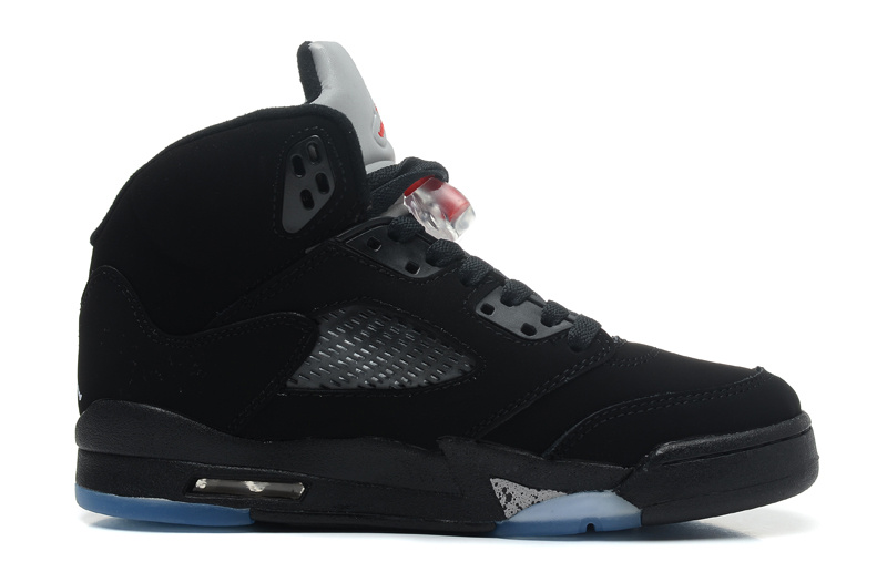 Air Jordan 5 Retro Black Varsity Red Metallic Silver Cheap