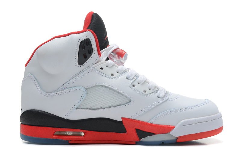 Air Jordan 5 Retro White Fire Red Black Cheap