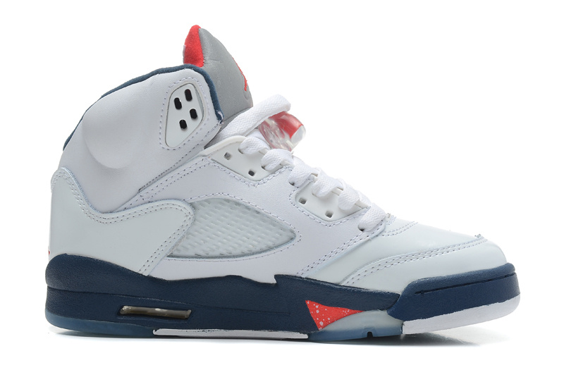 Air Jordan 5 Retro White Varsity Red Obsidian