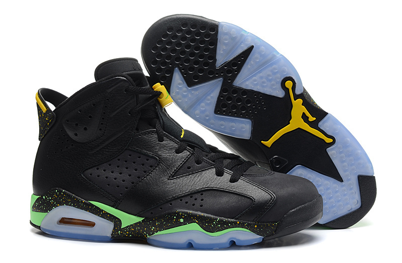 Air Jordan 6 VI Retro 2014 World Cup Black Light Lucid Green Tour Yellow