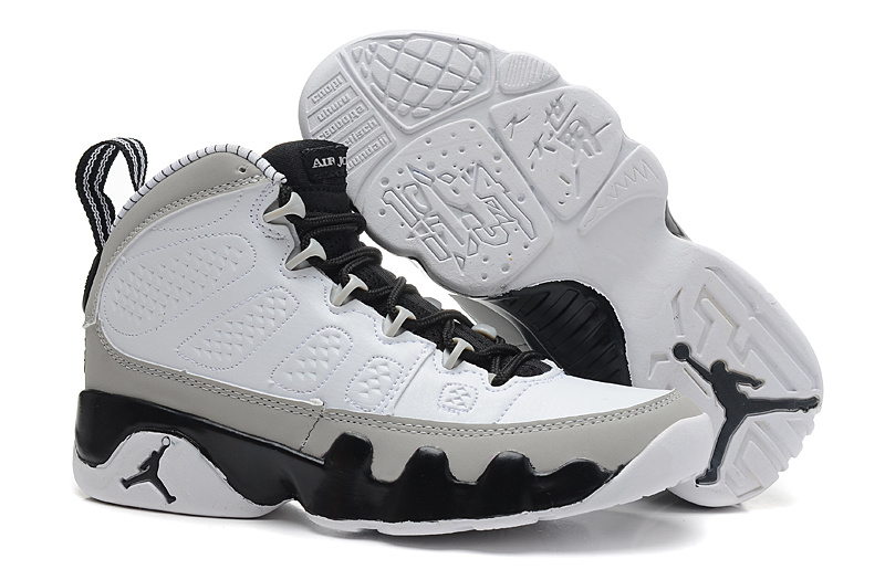 Air Jordan 9 Retro Birmingham Barons White Black Natural Grey