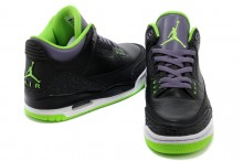 Air Jordan Retro 3 Joker Black Electric Green Canyon Purple White