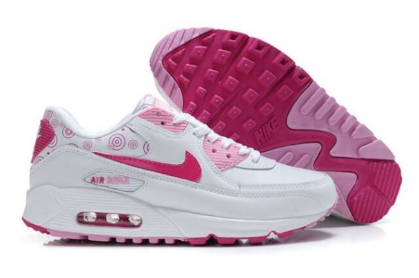 2014 Nike Air Max 90 Shoes White Rose M9F123