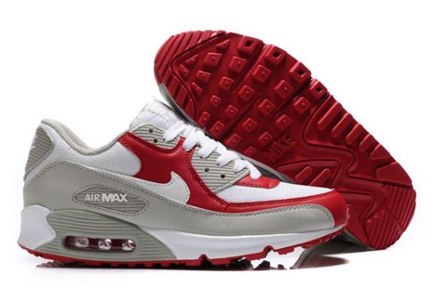 Nike Air Max 90 Shoes White Varsity Red Grey M9F118