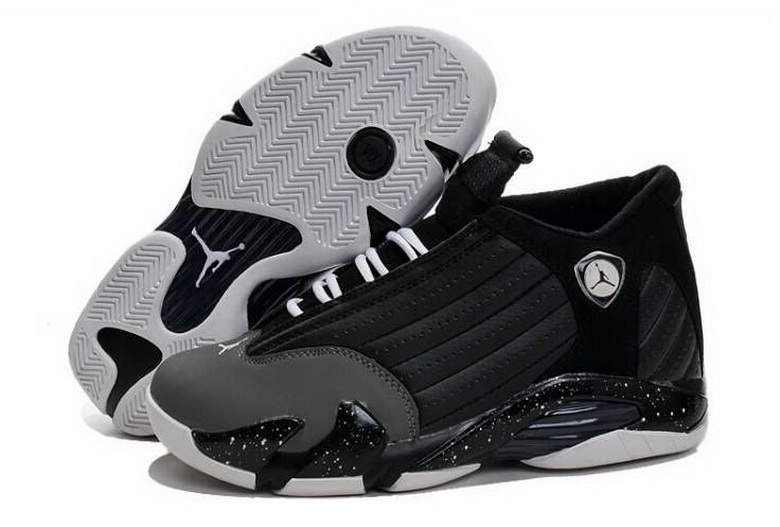 Air Jordan 14 Shoes 2015 Mens Black Grey