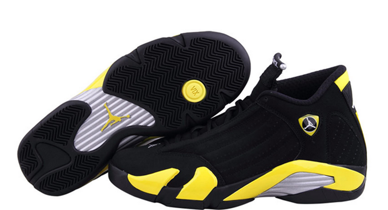 Air Jordan 14 Shoes 2015 Mens Black Yellow