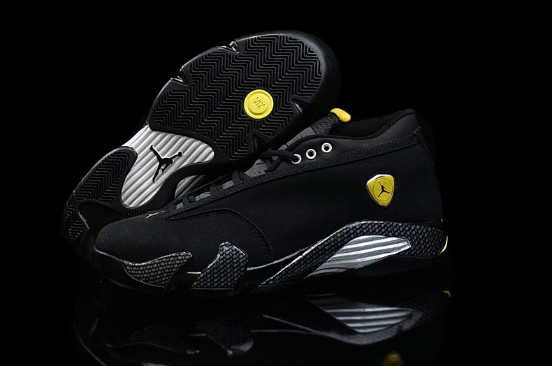 Air Jordan 14 Shoes 2015 Mens Low Ferrari All Black