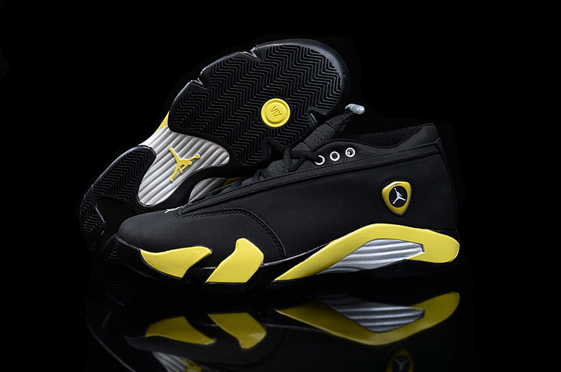 Air Jordan 14 Shoes 2015 Mens Low Ferrari Black Yellow