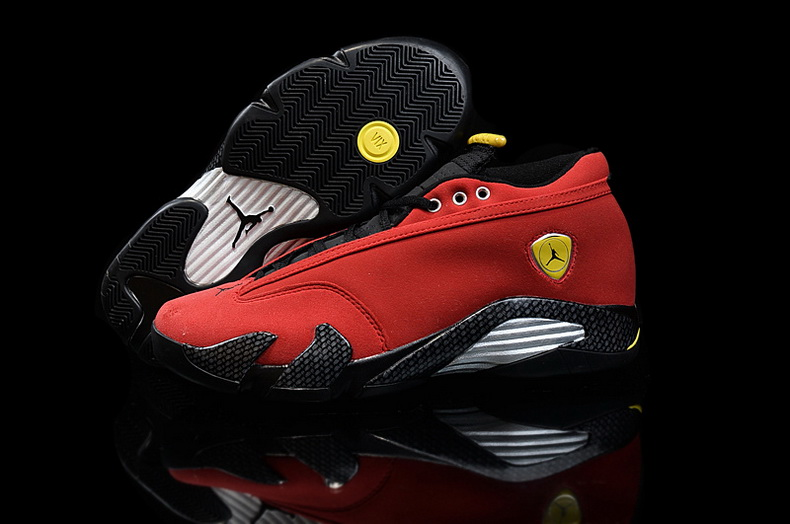 Air Jordan 14 Shoes 2015 Mens Low Ferrari Red Black