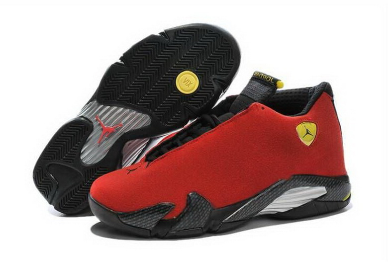 Air Jordan 14 Shoes 2015 Mens Red Black