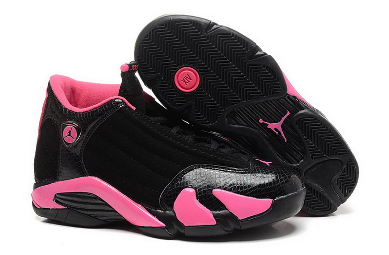 Air Jordan 14 Shoes 2015 Womens Black Pink