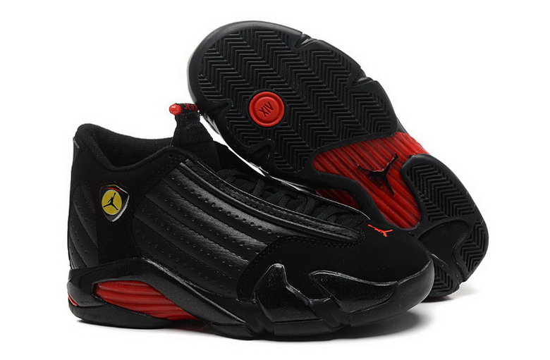 Air Jordan 14 Shoes 2015 Womens Black Red