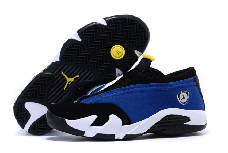 Air Jordan 14 Shoes 2015 Womens Low Blue Black