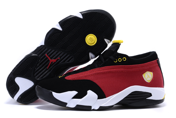 Air Jordan 14 Shoes 2015 Womens Low Red Black