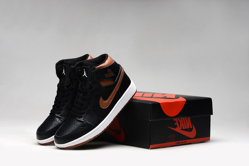 Air Jordan 1 Shoes 2015 Mens Black Gold