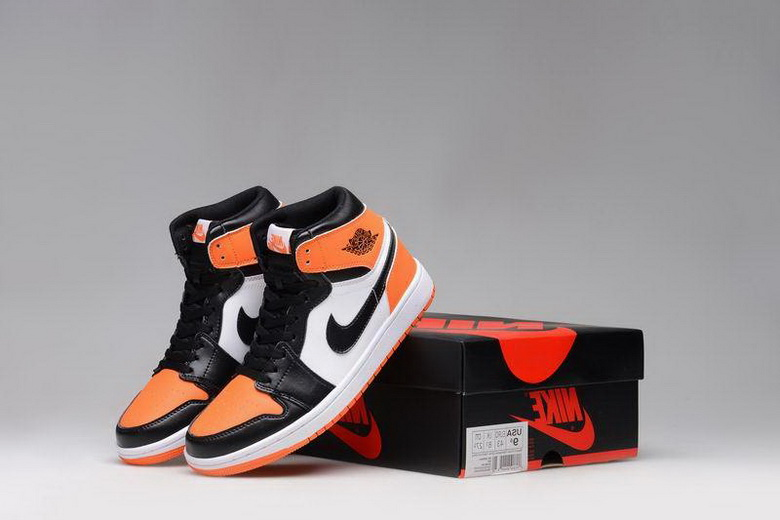 Air Jordan 1 Shoes 2015 Mens Black Orange White