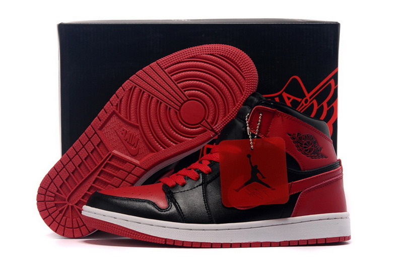 Air Jordan 1 Shoes 2015 Mens Black Red