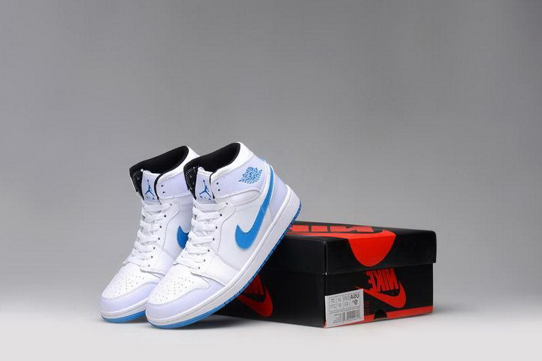 Air Jordan 1 Shoes 2015 Mens School White Blue