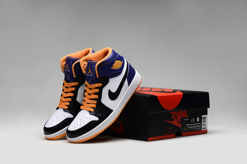 Air Jordan 1 Shoes 2015 Mens White Black Orange