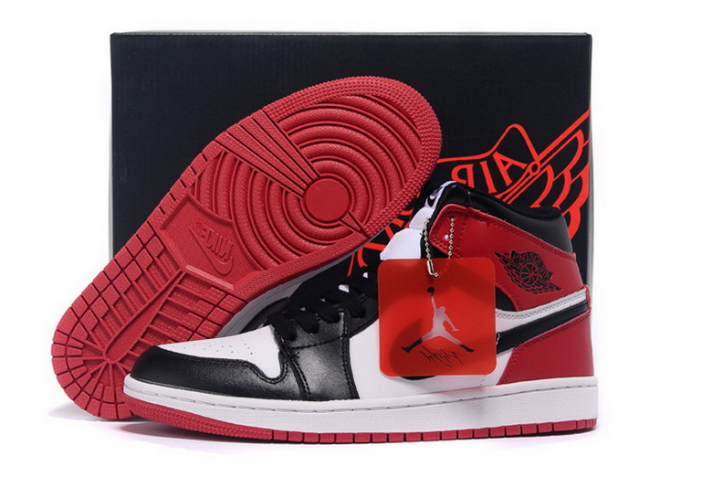 Air Jordan 1 Shoes 2015 Mens White Black Red