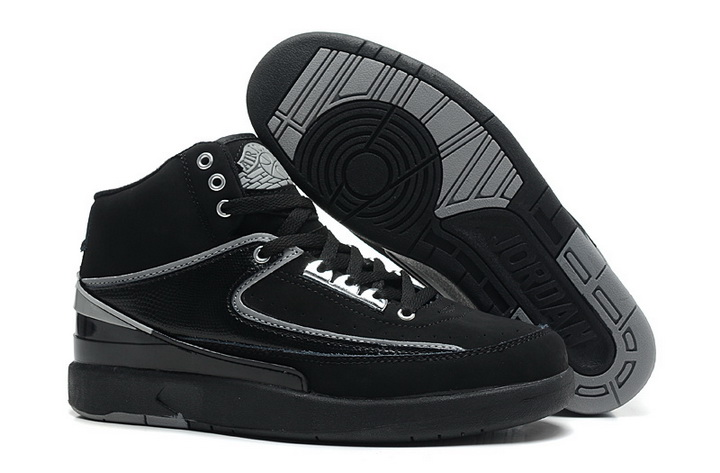 Air Jordan 2 Shoes 2013 Mens Engraved Version Black Grey