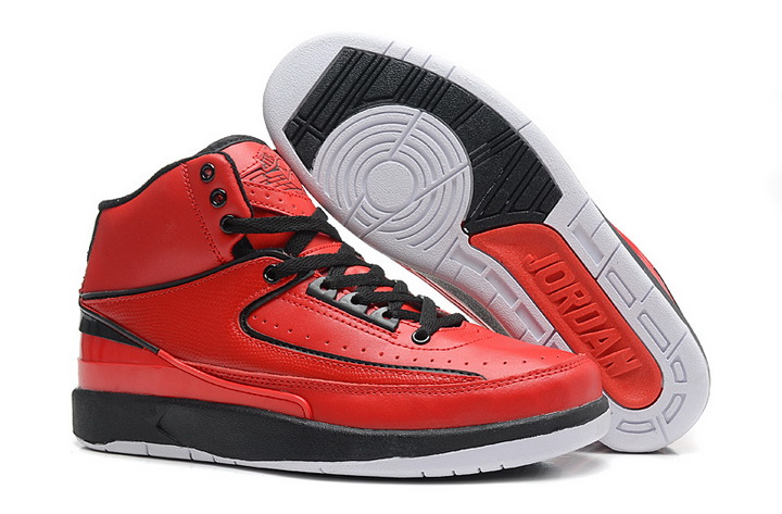 Air Jordan 2 Shoes 2013 Mens Engraved Version Red Black