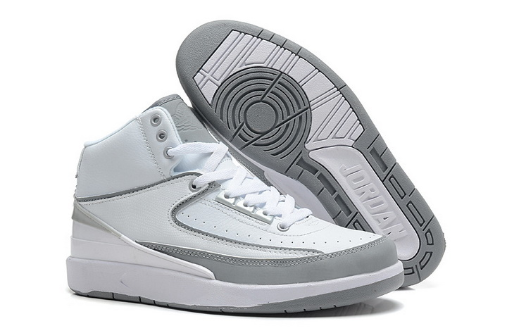 Air Jordan 2 Shoes 2013 Mens Engraved Version White Grey