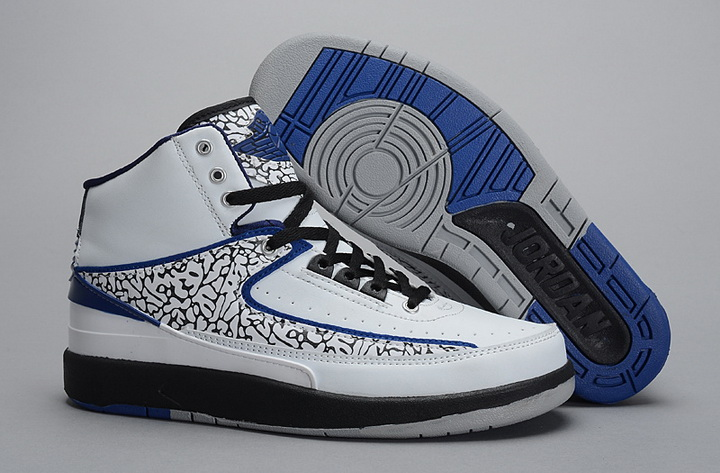 Air Jordan 2 Shoes 2014 Mens White Black Blue