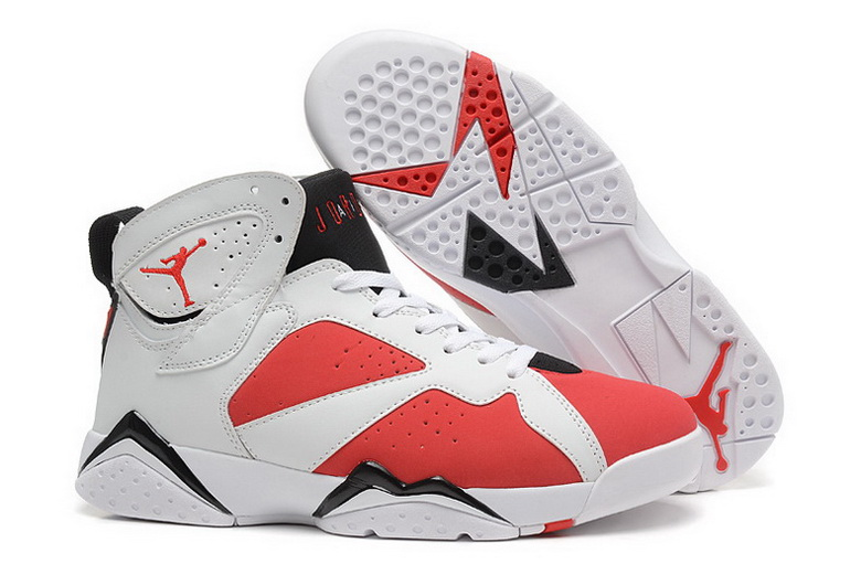 Air Jordan 7 Shoes 2014 Mens Grade AAA White Red Black