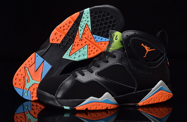 Air Jordan 7 Shoes 2015 Mens Black Orange