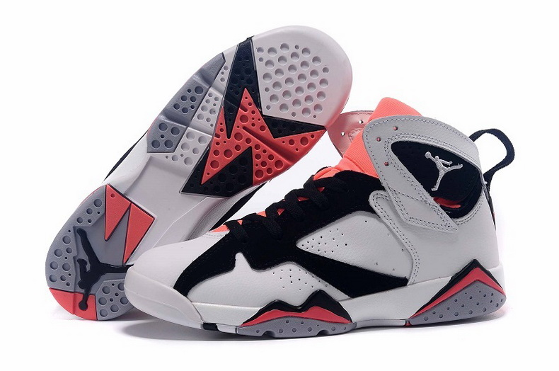 Air Jordan 7 Shoes 2015 Mens White Black Orange