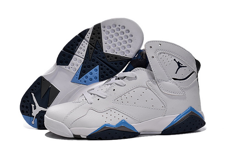 Air Jordan 7 Shoes 2015 Mens White Blue Purple
