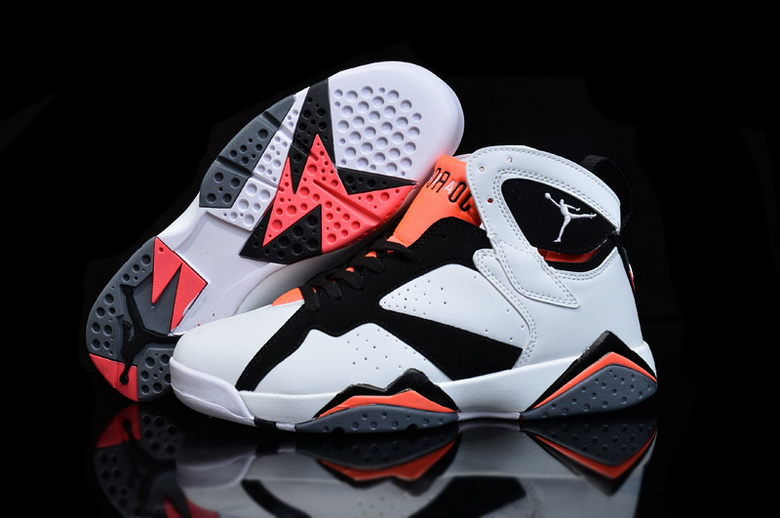Air Jordan 7 Shoes 2015 Womens White Black Red