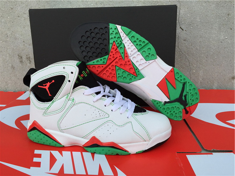 Air Jordan 7 Shoes 2015 Womens White Green Red