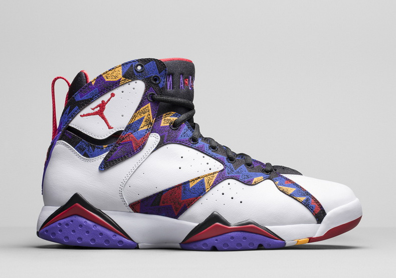 Air Jordan 7 Shoes 2015 Womens White Purple Red