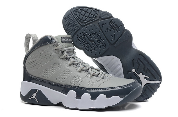 Air Jordan 9 Shoes 2014 Womens Grey Navy Blue