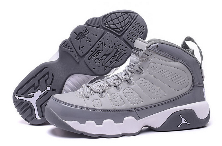 Air Jordan 9 Shoes 2015 Womens Grey White