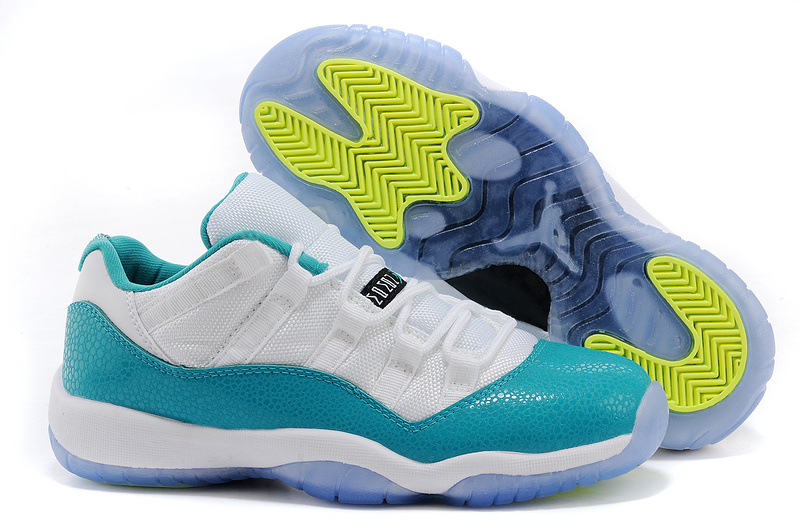 Air Jordan 11 Retro Low Aqua White Turbo Green Volt Ice Black