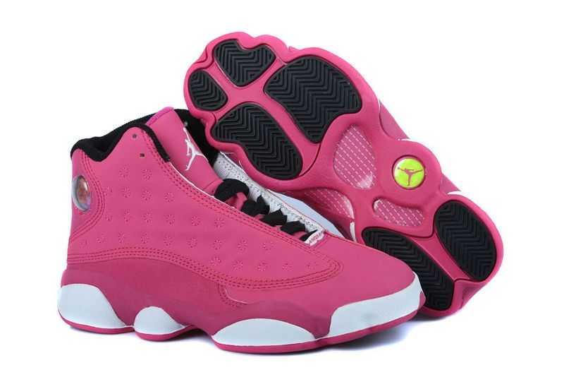 Girls Air Jordan 13 Fusion Pink Black White