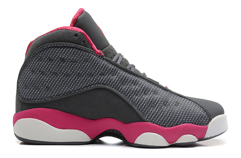 Girls Air Jordan 13 Retro GS Cool Grey Fusion Pink White