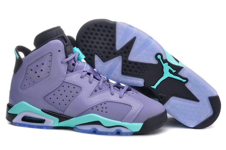 Girls Air Jordan 6 Retro Cool Grey Turbo Green Black 2015