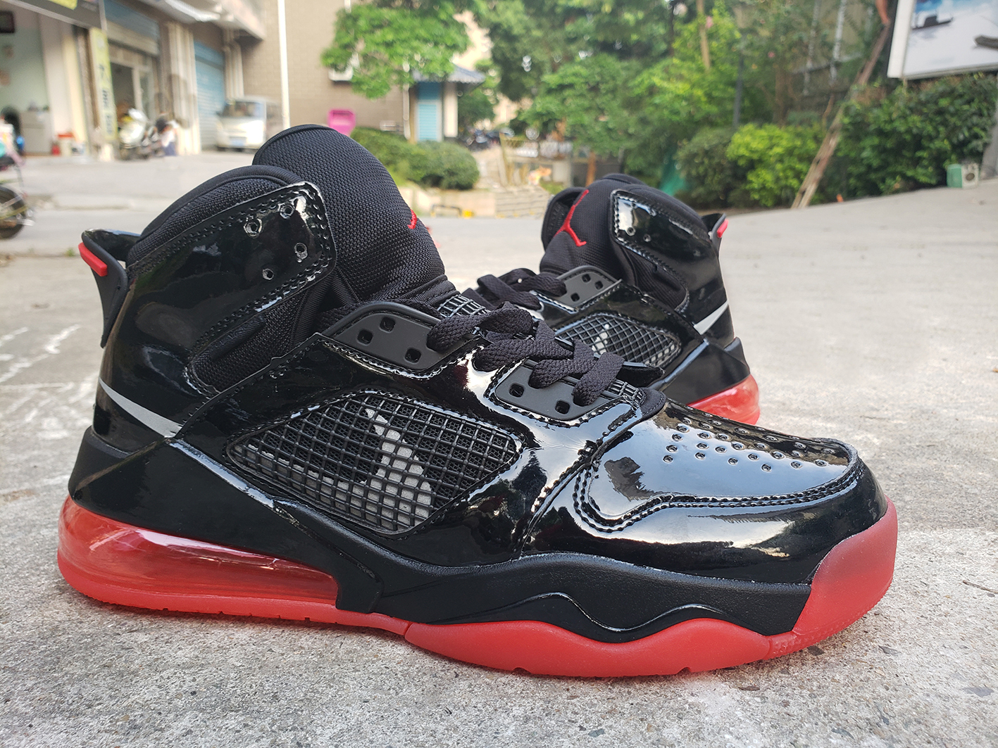 Jordan Joint Name Black Red Shoes