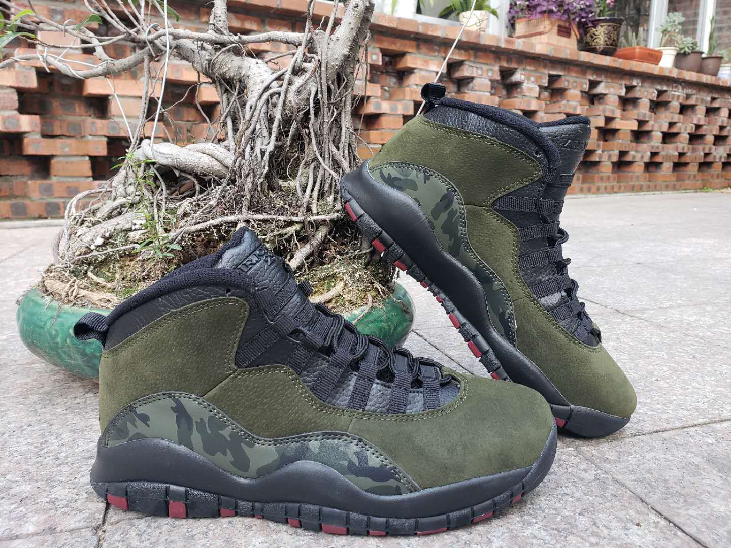 Jordan Shoes 10 Army Green Camo For Cheap