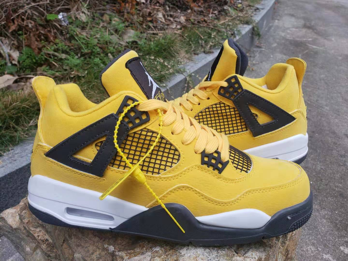 Jordan Shoes 4 All Yellow For Cheap
