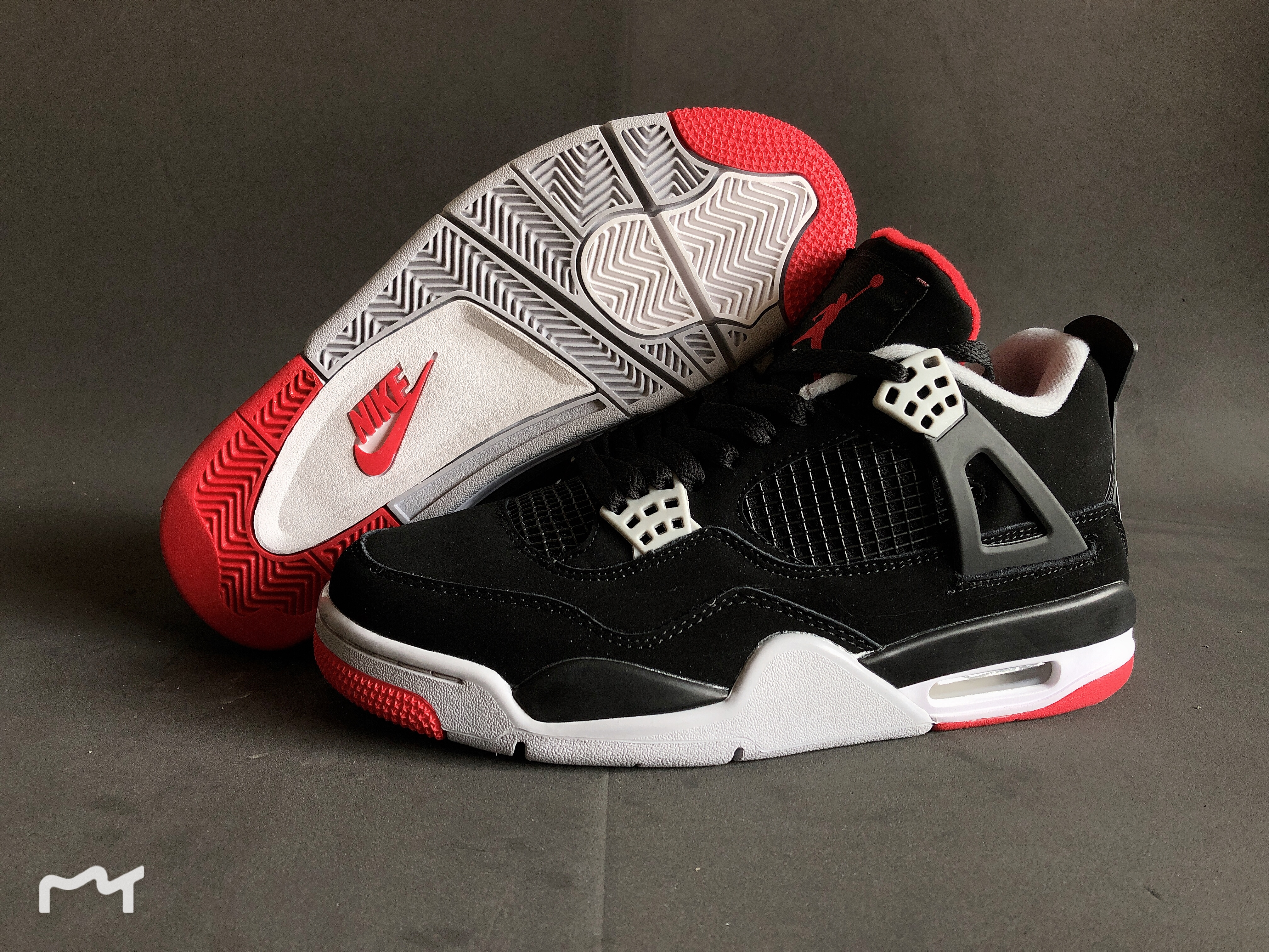 Jordan Shoes 4 Black Red For Cheap