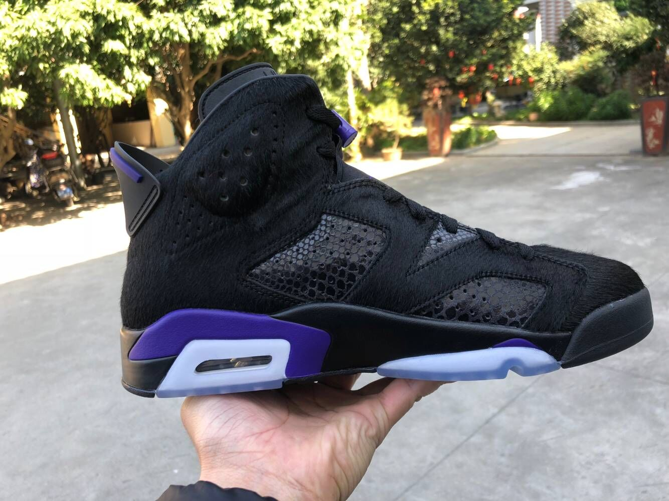 Jordan Shoes 6 Horse Leather Black Grey Blue For Cheap