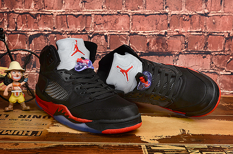 Jordan Shoes 6 Silk Black Red For Lovers