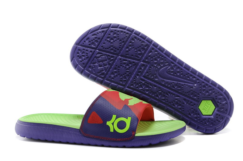 KD Slides Court Purple Red Green Glow 631402 530